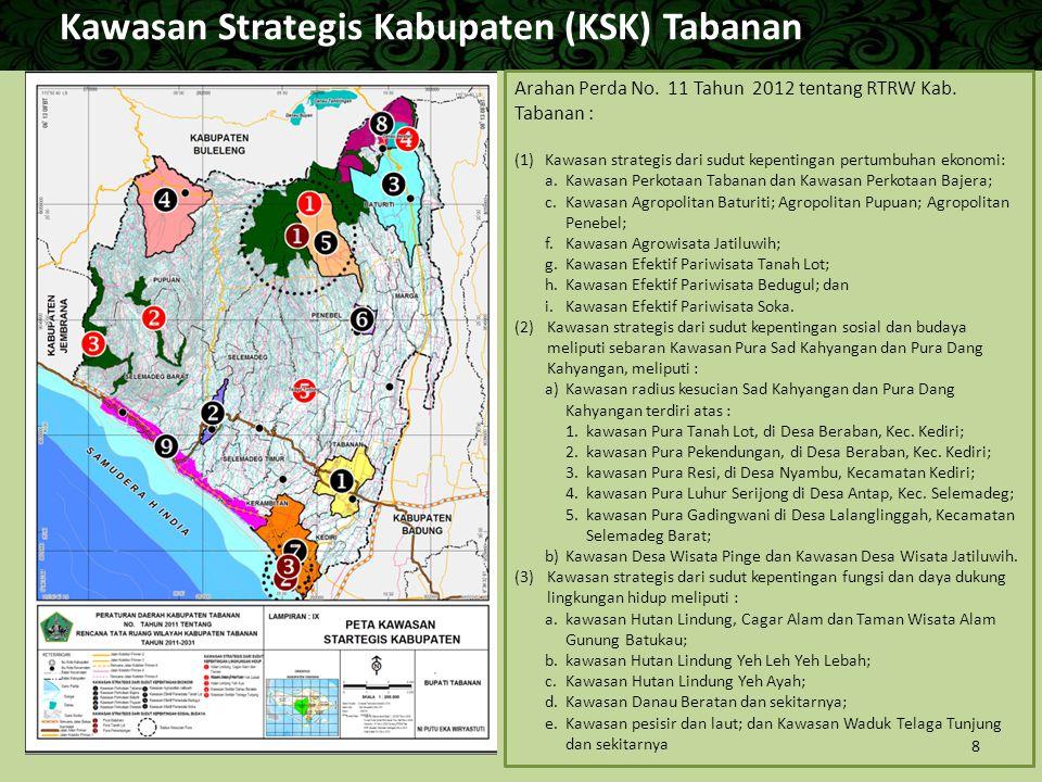 Kawasan Strategis Kabupaten (KSK) Tabanan