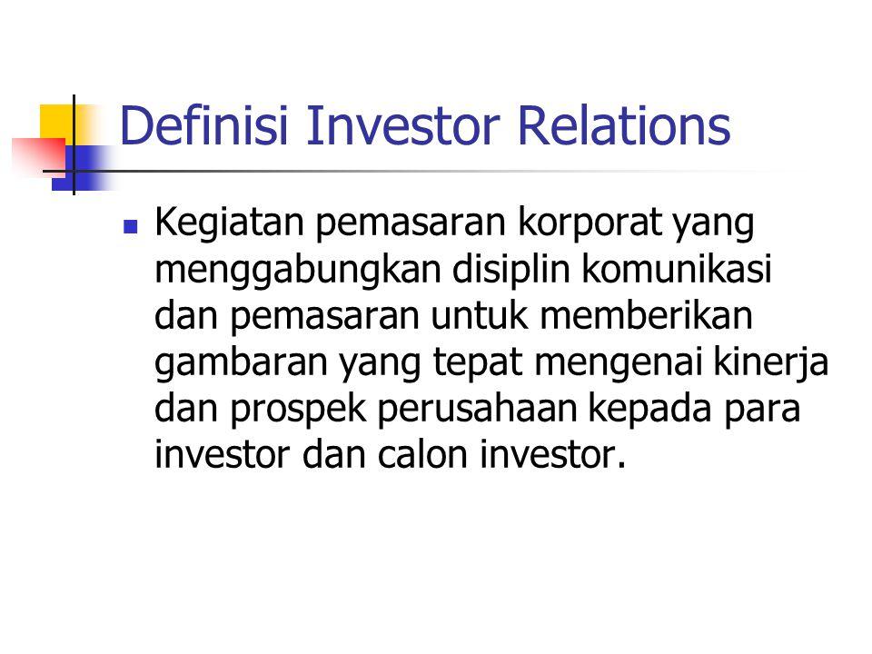 Definisi Investor Relations