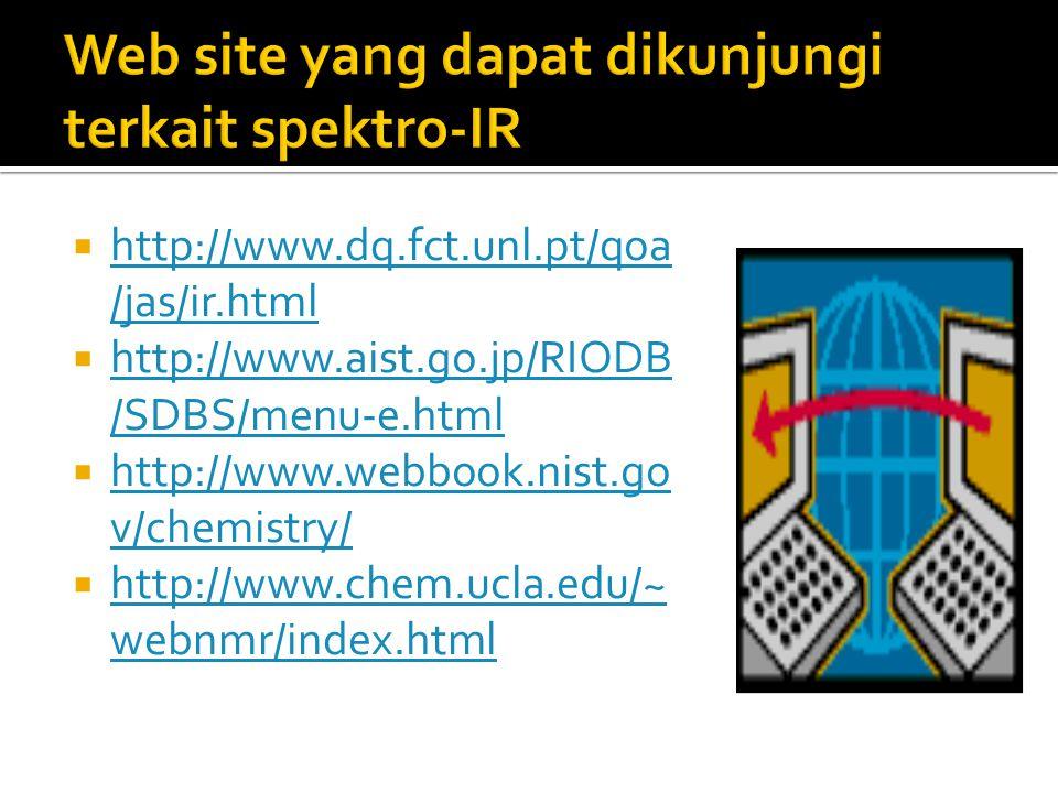 Web site yang dapat dikunjungi terkait spektro-IR