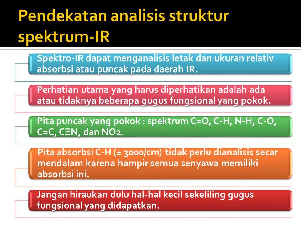 Pendekatan analisis struktur spektrum-IR
