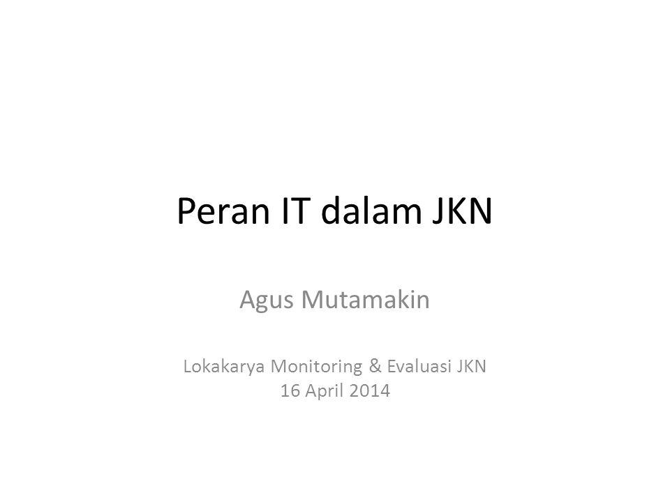 Agus Mutamakin Lokakarya Monitoring & Evaluasi JKN 16 April 2014