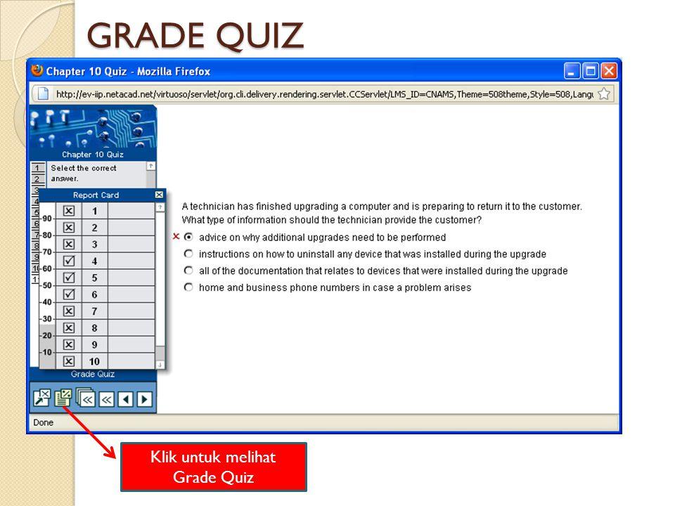 Klik untuk melihat Grade Quiz