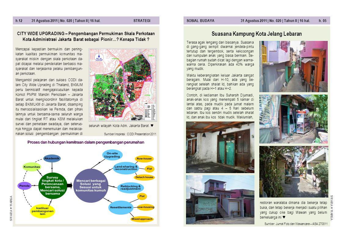 Suasana Kampung Kota Jelang Lebaran