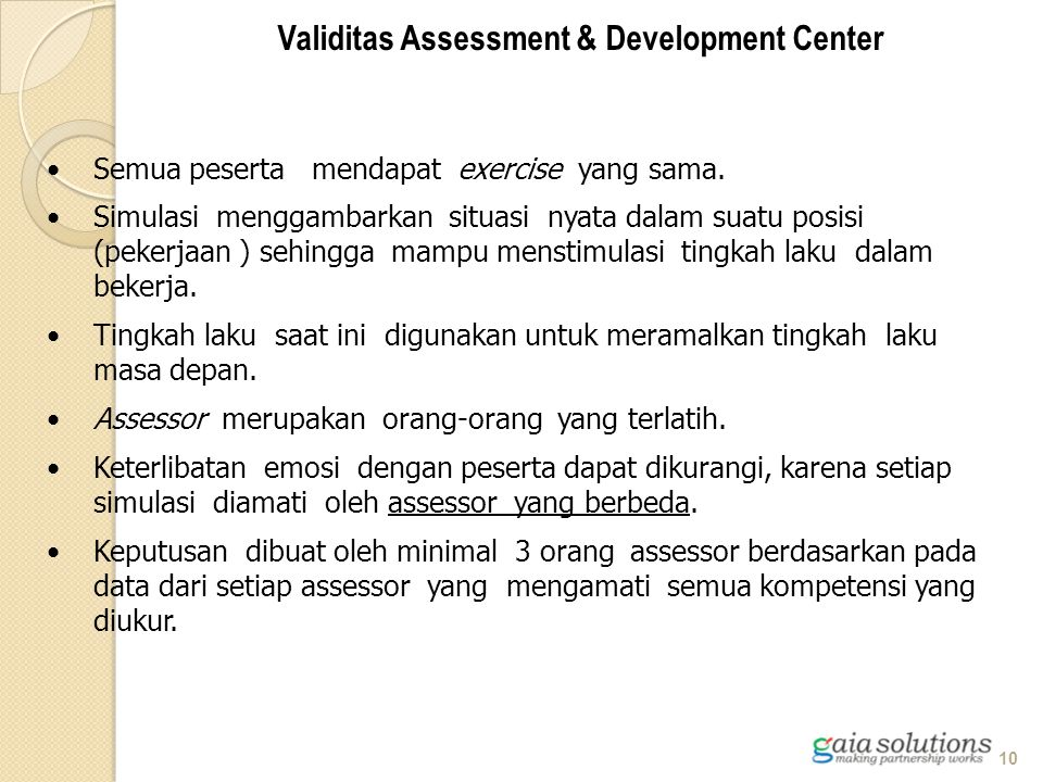 Validitas Assessment & Development Center