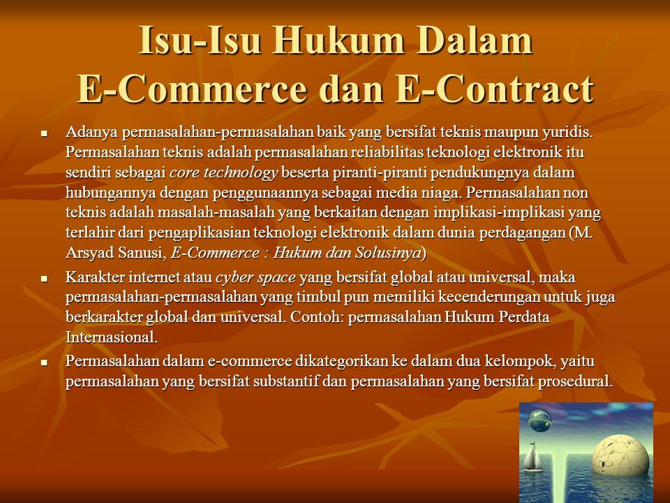Isu-Isu Hukum Dalam E-Commerce dan E-Contract