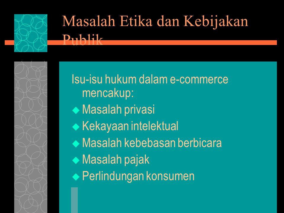 Masalah Etika dan Kebijakan Publik