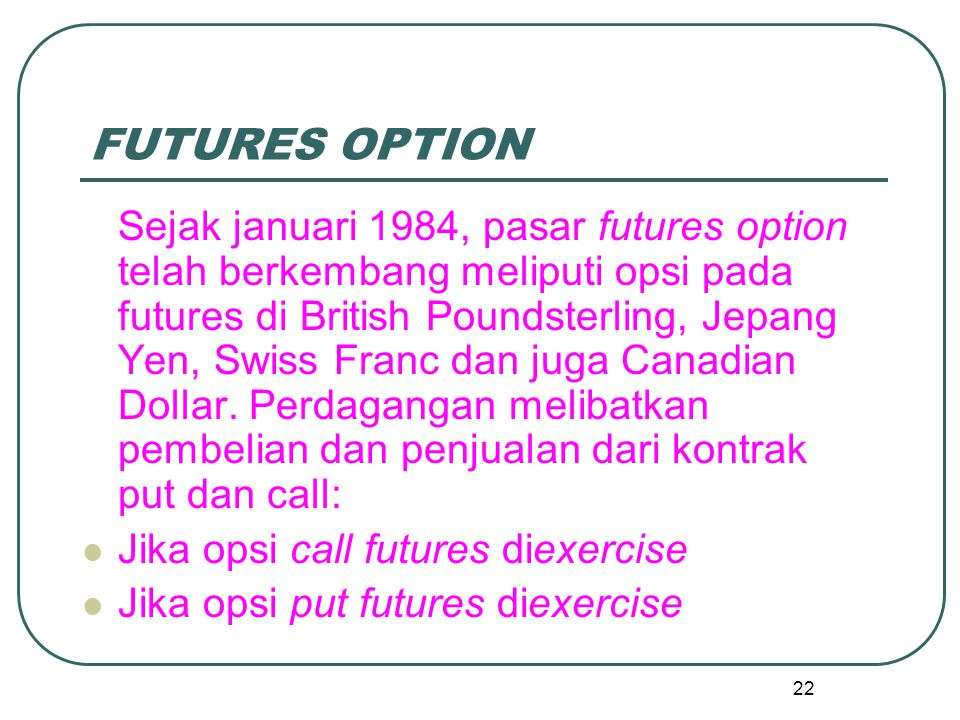 FUTURES OPTION