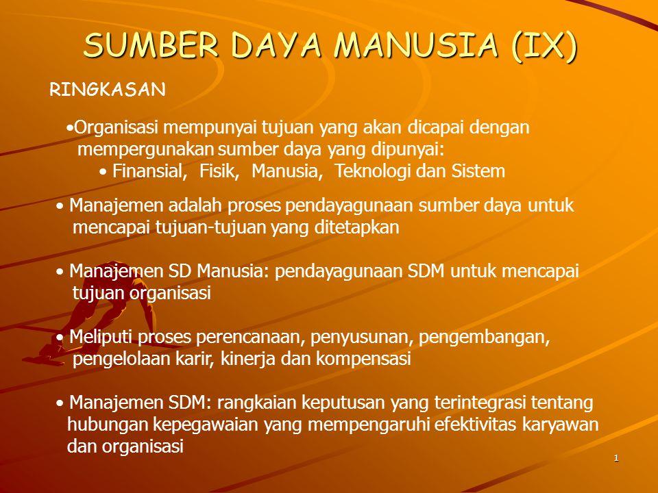 SUMBER DAYA MANUSIA (IX)