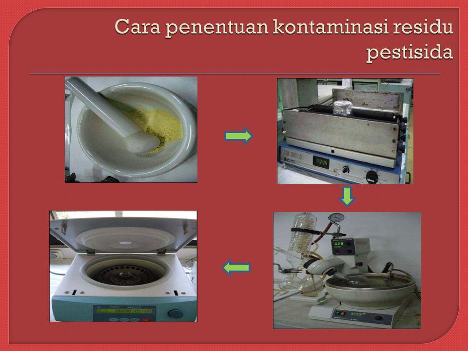 Cara penentuan kontaminasi residu pestisida