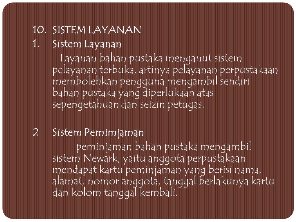 10. SISTEM LAYANAN 1. Sistem Layanan.