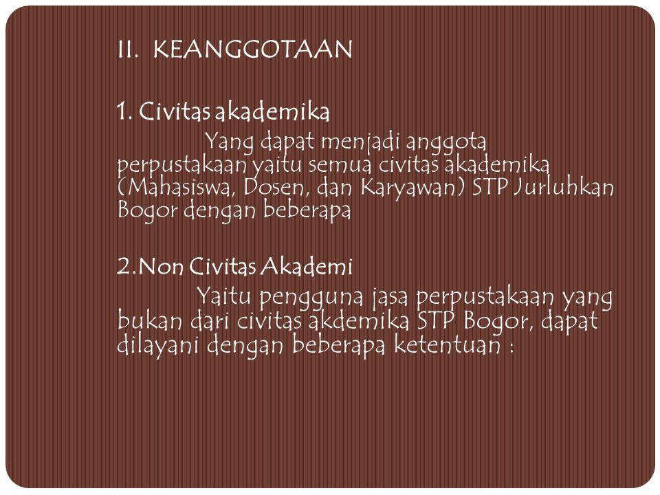 II. KEANGGOTAAN 1. Civitas akademika