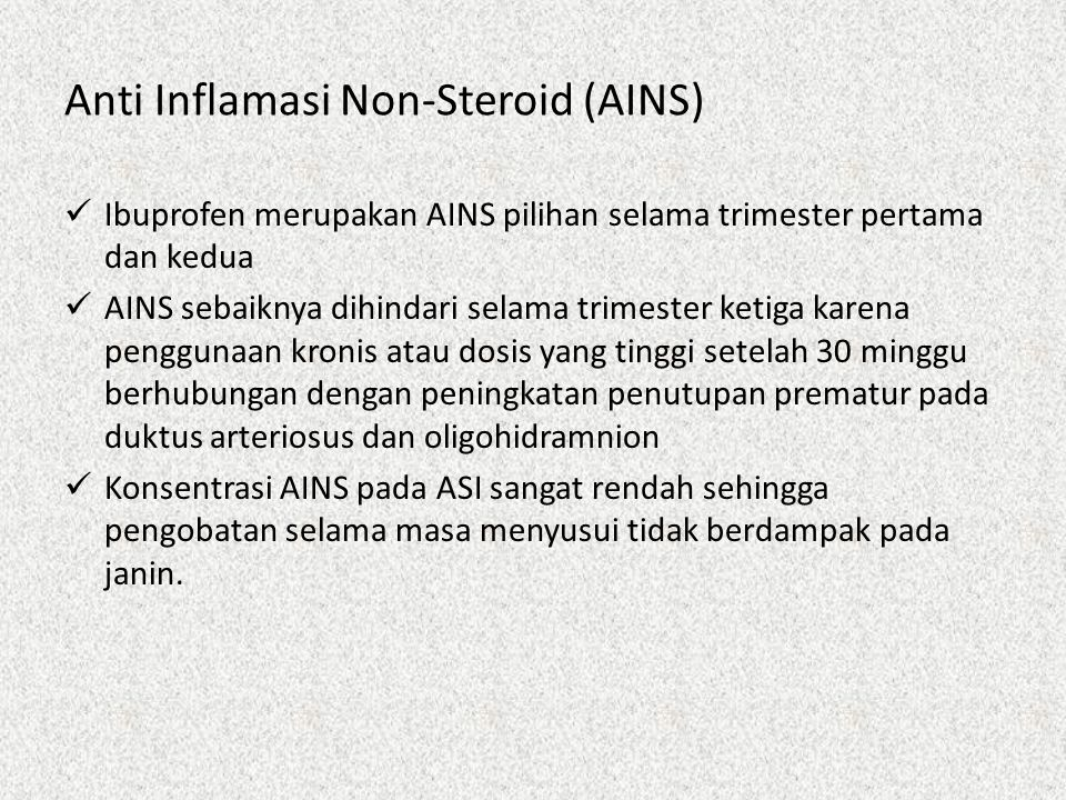 Anti Inflamasi Non-Steroid (AINS)