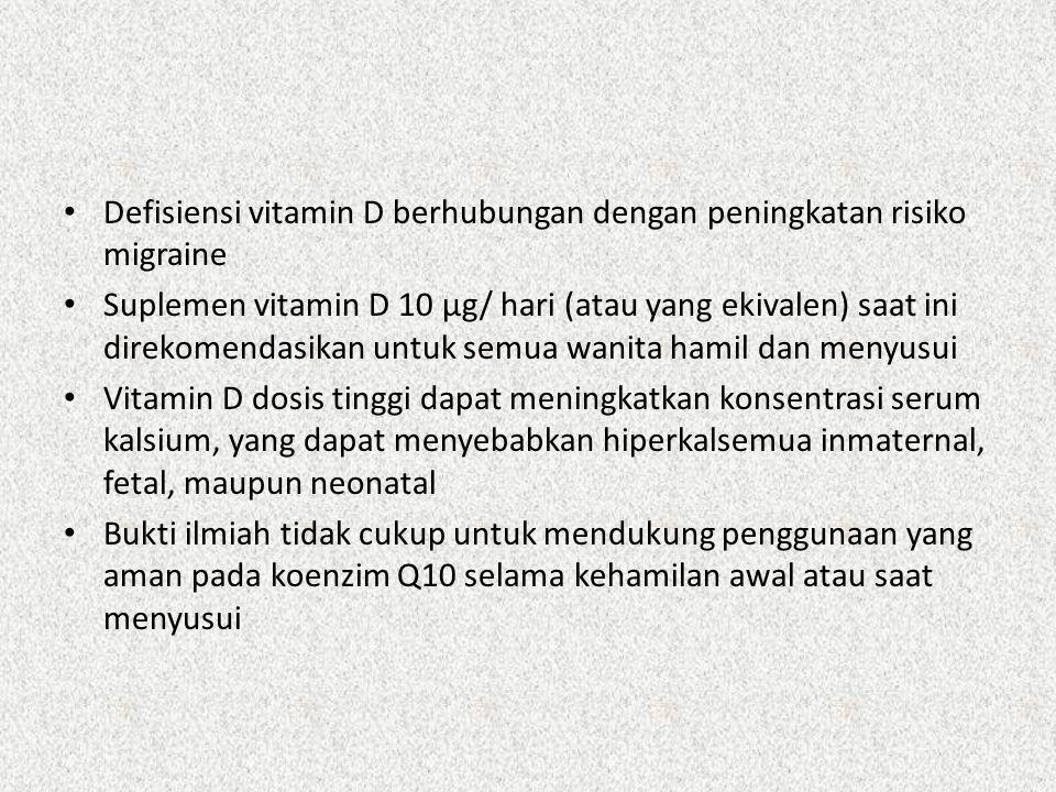 Defisiensi vitamin D berhubungan dengan peningkatan risiko migraine