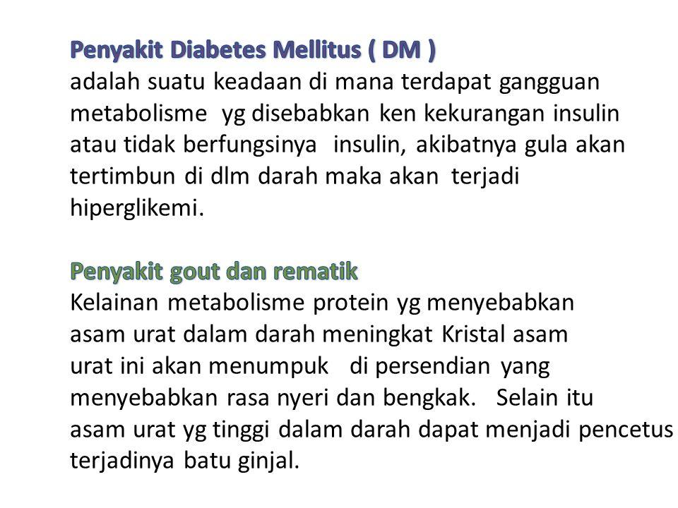 Penyakit Diabetes Mellitus ( DM )