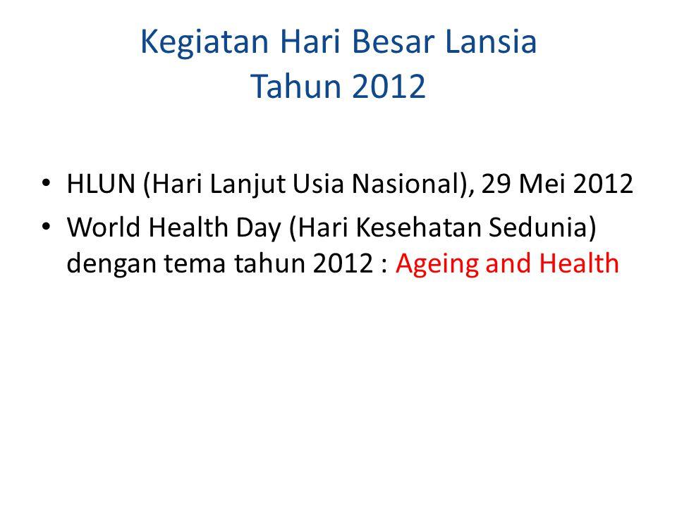 Kegiatan Hari Besar Lansia Tahun 2012