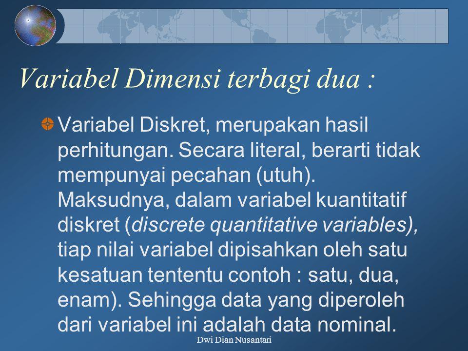 Variabel Dimensi terbagi dua :