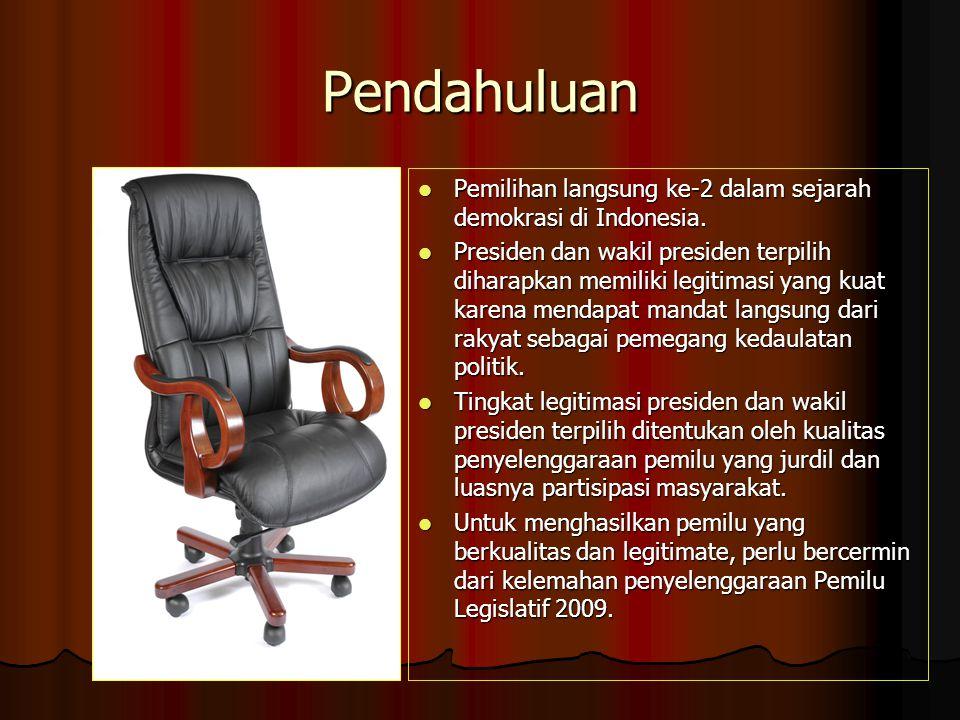 Pendahuluan Pemilihan langsung ke-2 dalam sejarah demokrasi di Indonesia.