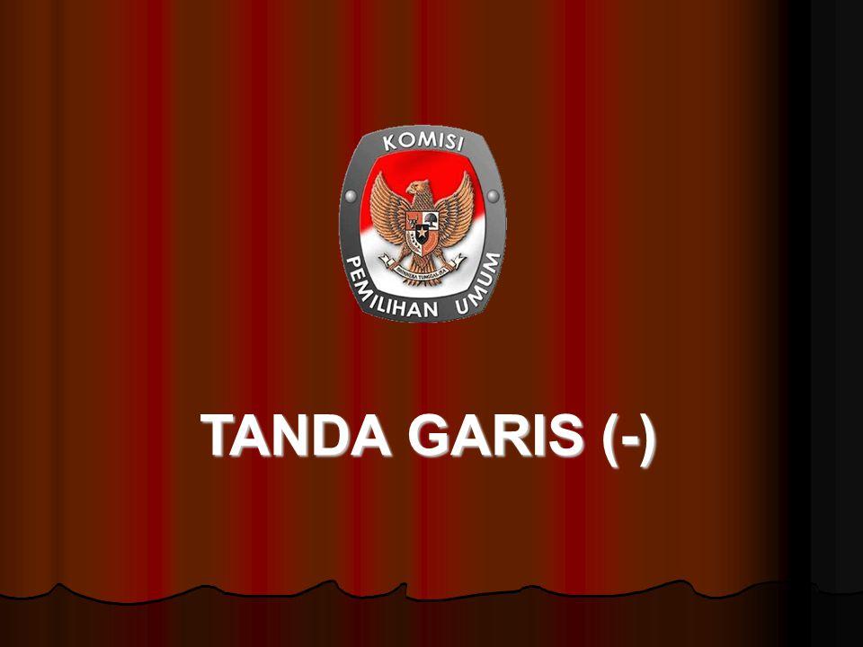 TANDA GARIS (-)