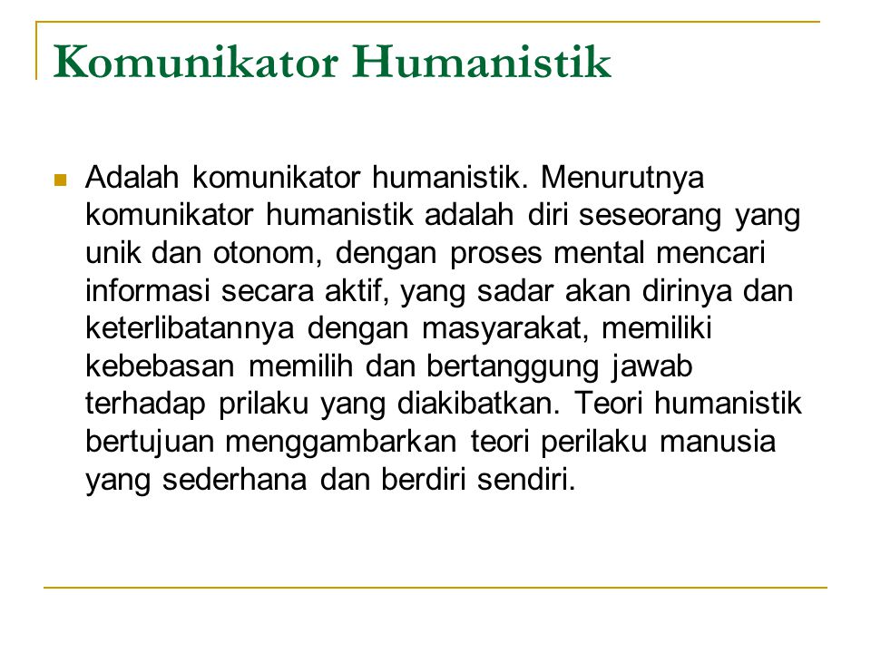 Komunikator Humanistik