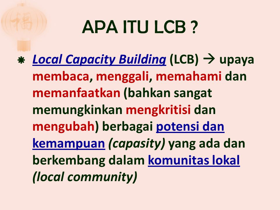APA ITU LCB