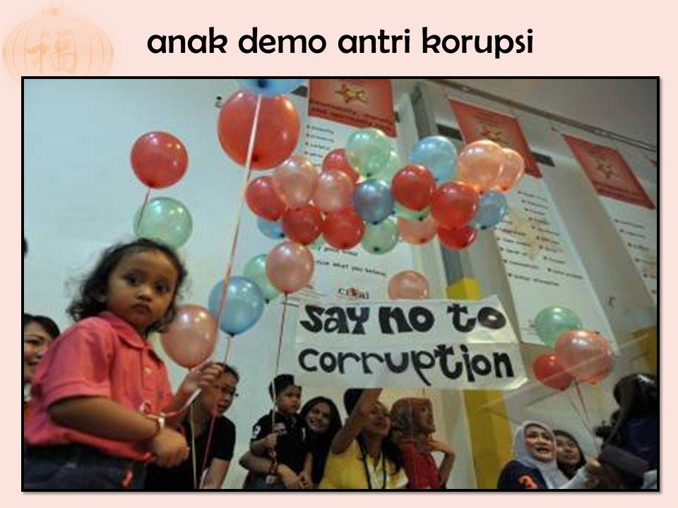 anak demo antri korupsi