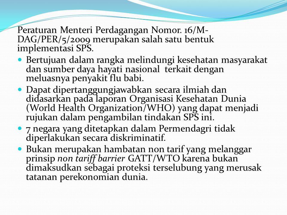 Peraturan Menteri Perdagangan Nomor