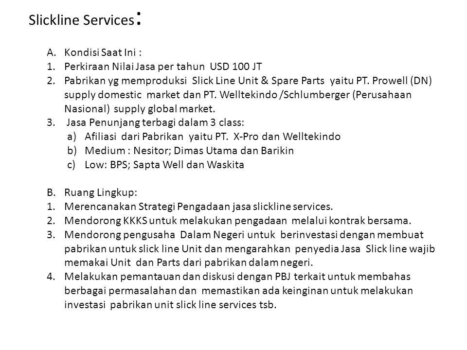 Slickline Services: Kondisi Saat Ini :
