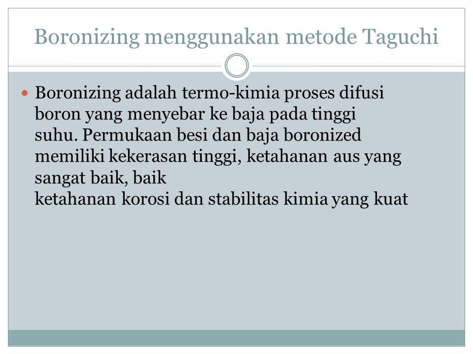 Boronizing menggunakan metode Taguchi