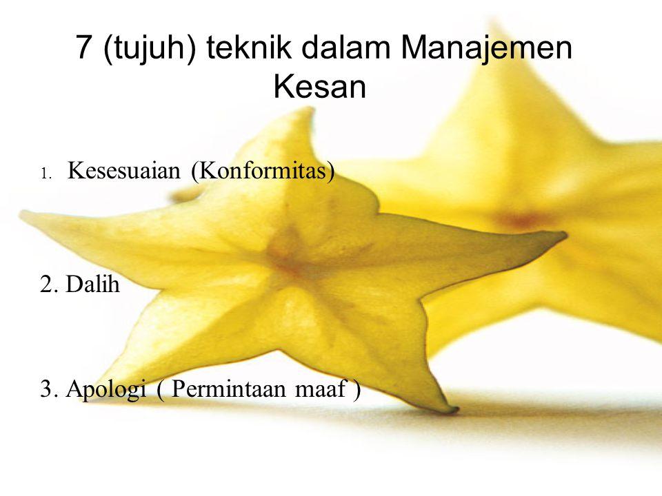 7 (tujuh) teknik dalam Manajemen Kesan