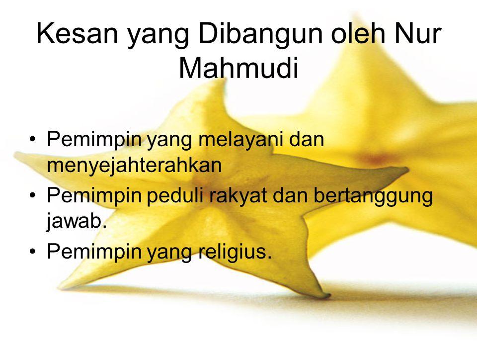 Kesan yang Dibangun oleh Nur Mahmudi