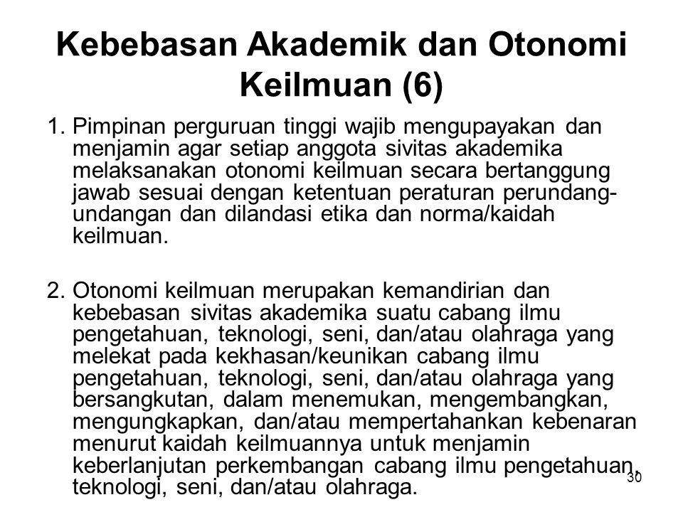 Kebebasan Akademik dan Otonomi Keilmuan (6)