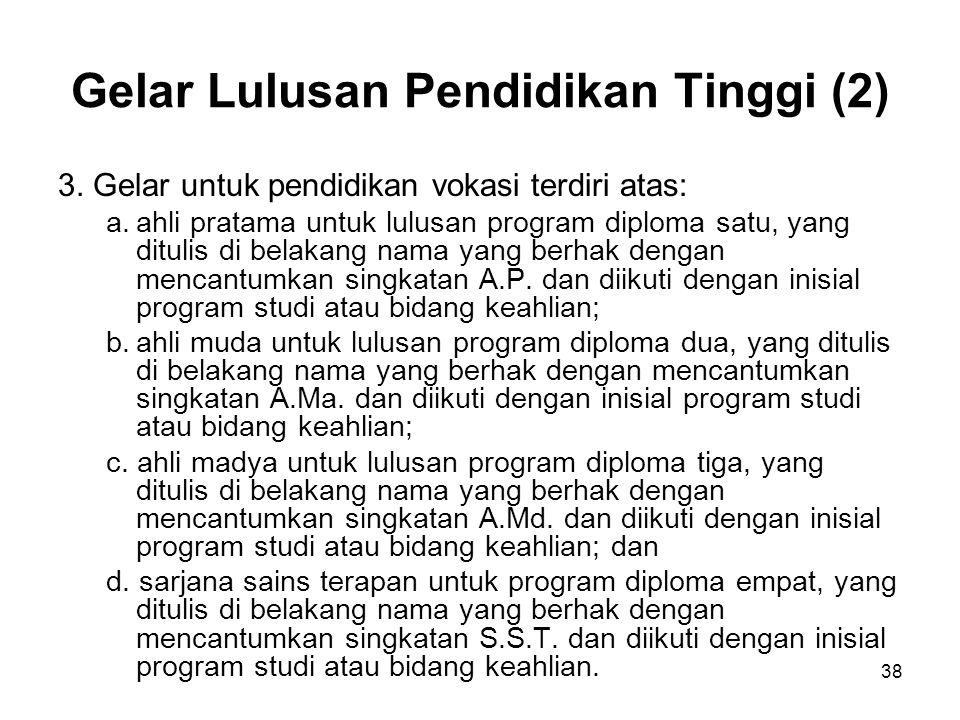 Gelar Lulusan Pendidikan Tinggi (2)