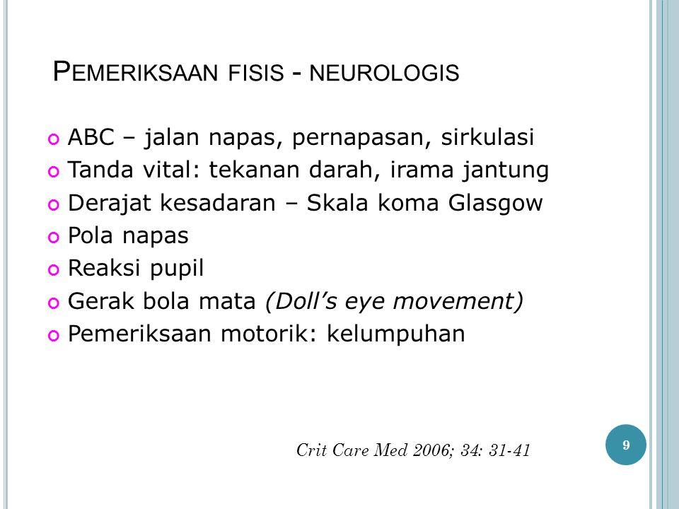Pemeriksaan fisis - neurologis
