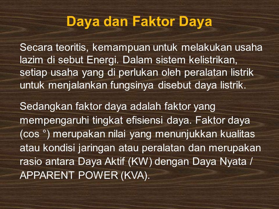 Daya dan Faktor Daya