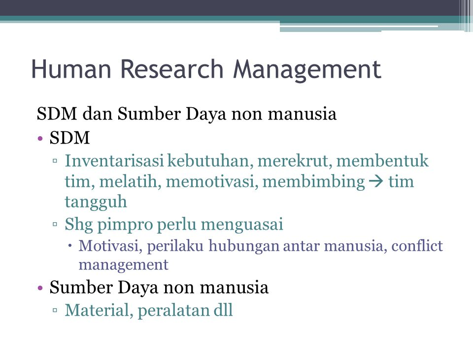 Human Research Management