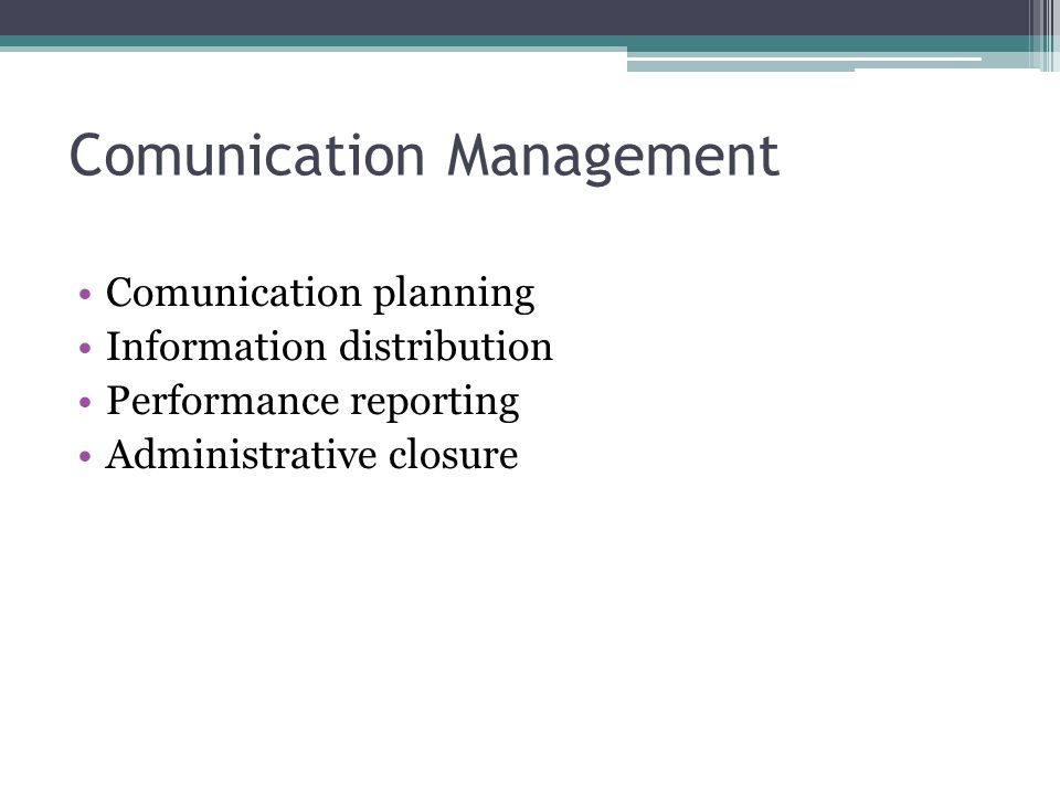 Comunication Management