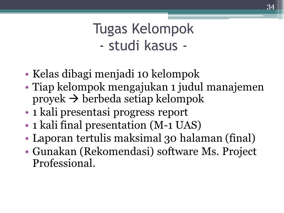 Tugas Kelompok - studi kasus -