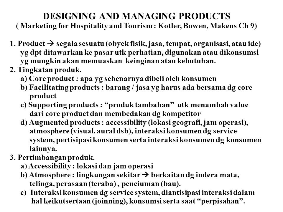 DESIGNING AND MANAGING PRODUCTS