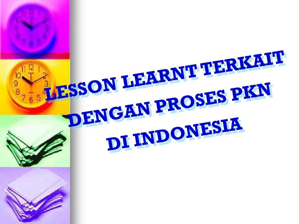 LESSON LEARNT TERKAIT DENGAN PROSES PKN