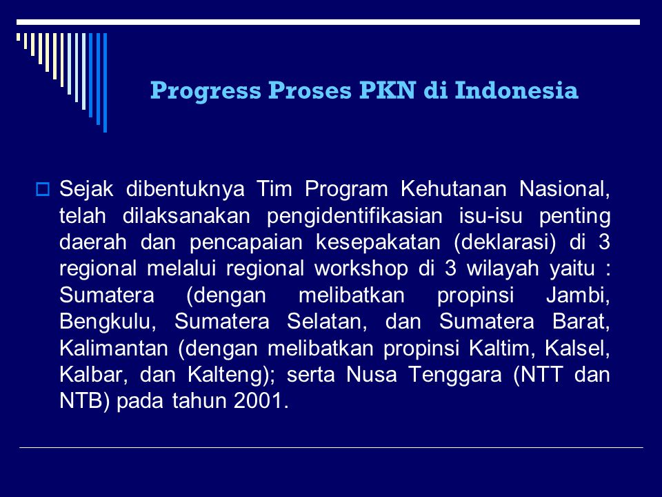 Progress Proses PKN di Indonesia