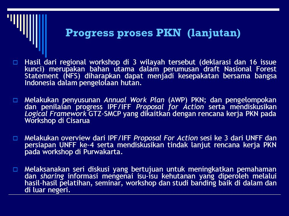 Progress proses PKN (lanjutan)