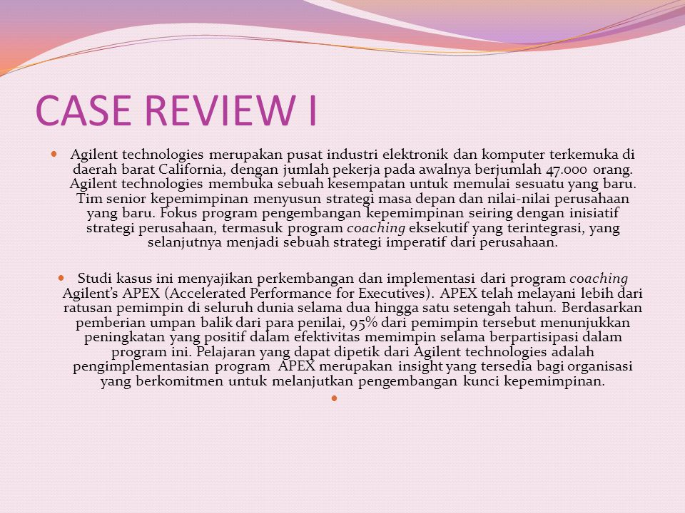 CASE REVIEW I