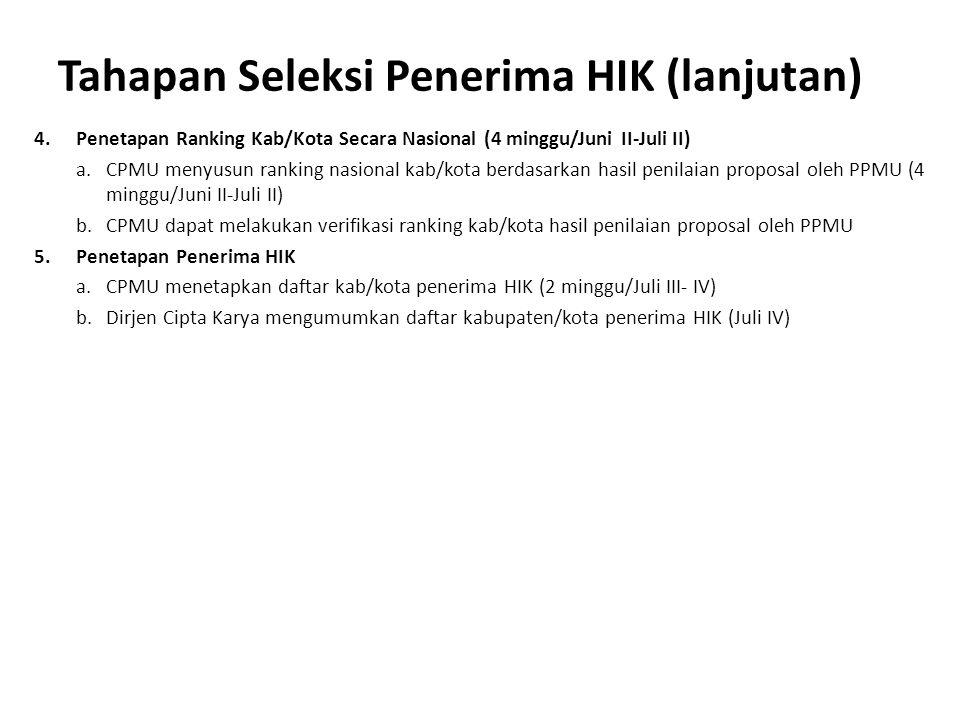 Tahapan Seleksi Penerima HIK (lanjutan)