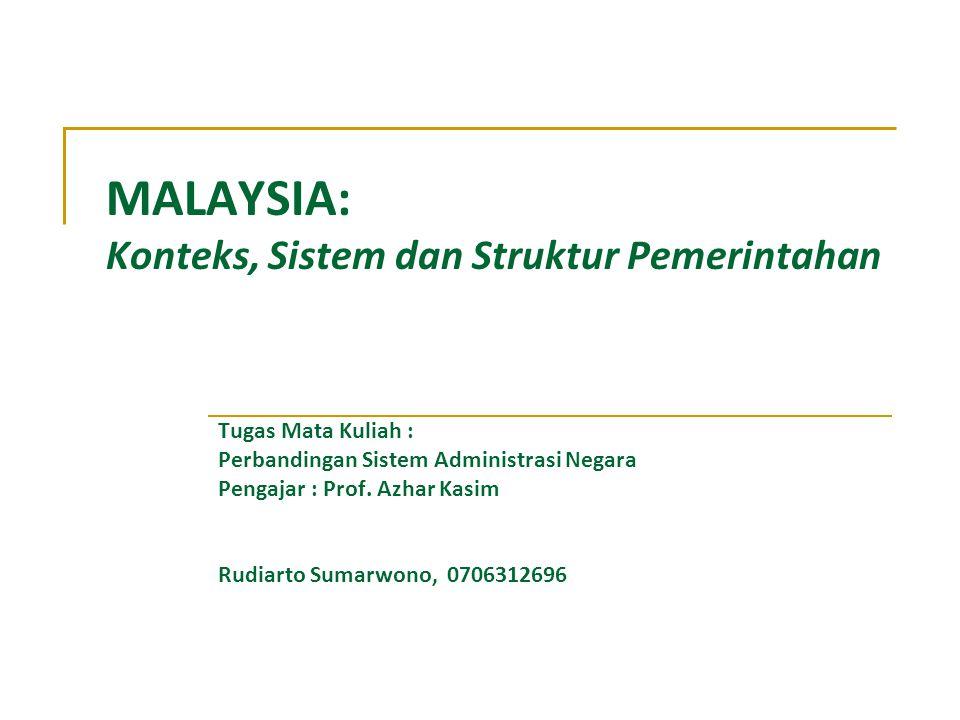 MALAYSIA: Konteks, Sistem dan Struktur Pemerintahan