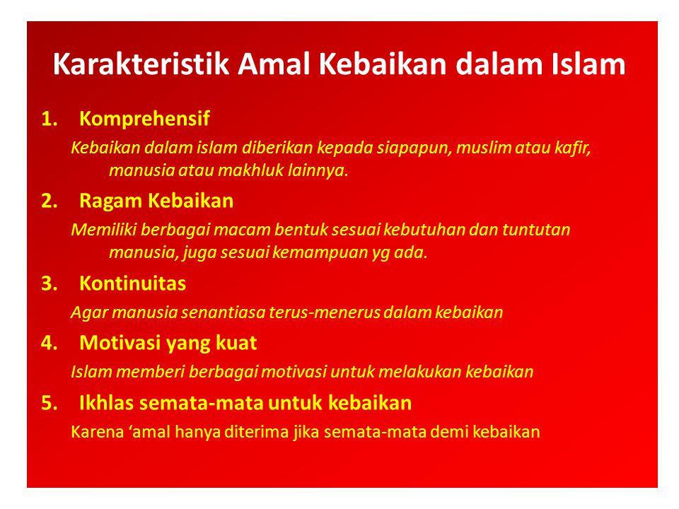 Karakteristik Amal Kebaikan dalam Islam