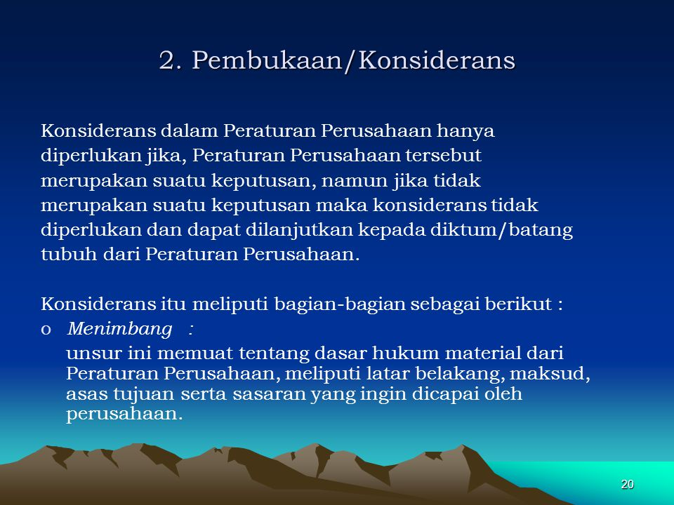 2. Pembukaan/Konsiderans