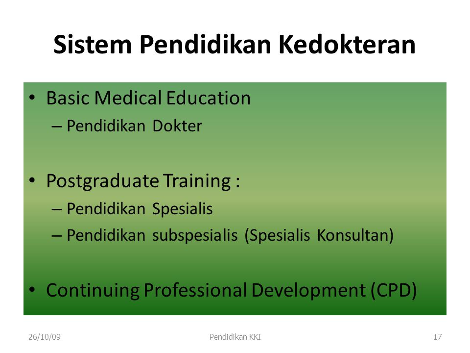 Sistem Pendidikan Kedokteran