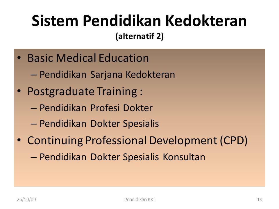 Sistem Pendidikan Kedokteran (alternatif 2)