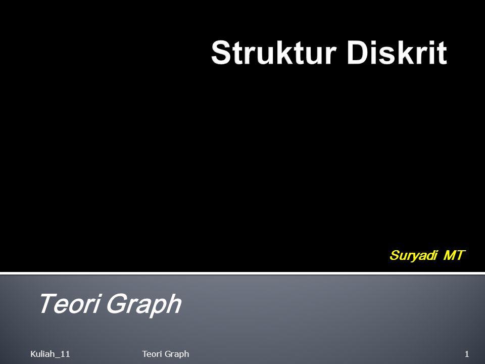 Struktur Diskrit Suryadi MT Teori Graph Kuliah_11 Teori Graph