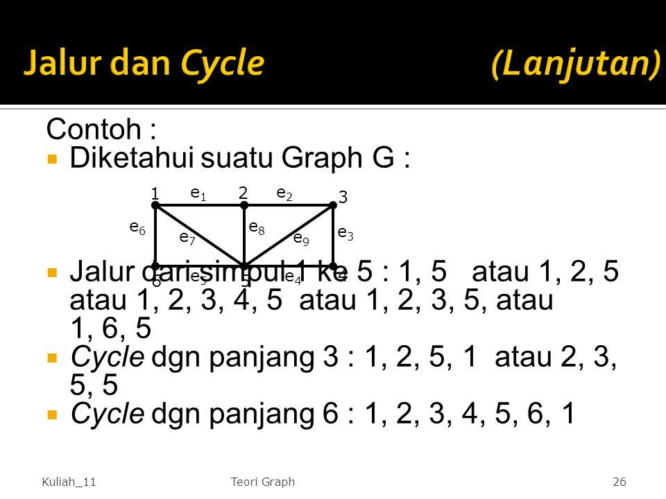 Jalur dan Cycle (Lanjutan)